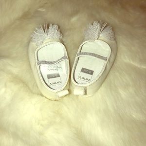 Baby Girl White Shoes with Fluff